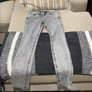 JBrand Gray Acid Wash Straight Leg Jeans